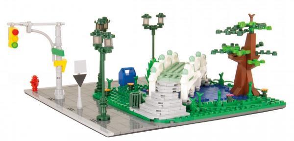 Park, See mit Brücke
