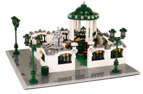 Park mit Pavillon