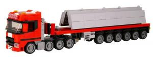 Truck Sweden 4 Axle with Concrete Plates