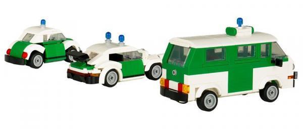 Polizei Einsatzfahrzeuge 3er-Set