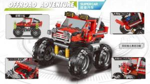 Offroad Adventure Monster Truck in red