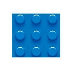 Plate 16x16, Blue