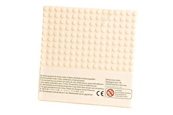 Plate 16x16, creamy white