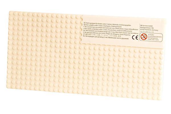 Grundplatte 16x32, cremeweiß