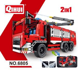Fire Truck With Water Spraying 2 in 1