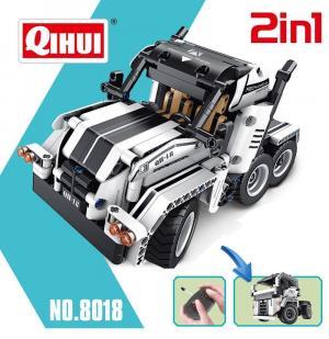 R/C Truck, white, 2 IN 1. 4CH
