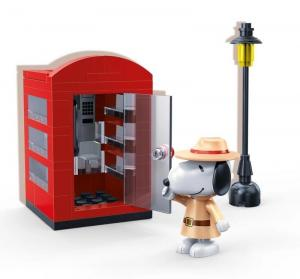 Snoopy Secret Agent phone booth