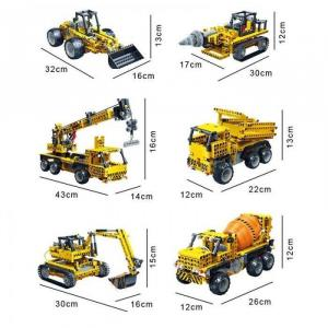 BanBao Remote Controlled 6 in1 Construction Vehicles