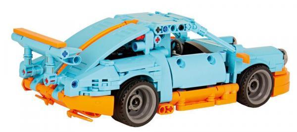 Sports Car, Light Blue / Orange