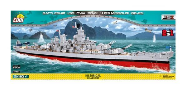 BlueBrixx - Sets - 101415 - Battleship 2in1 USS Iowa BB61