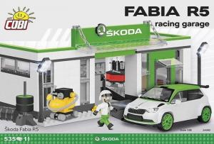 Skoda Fabia R5 racing garage