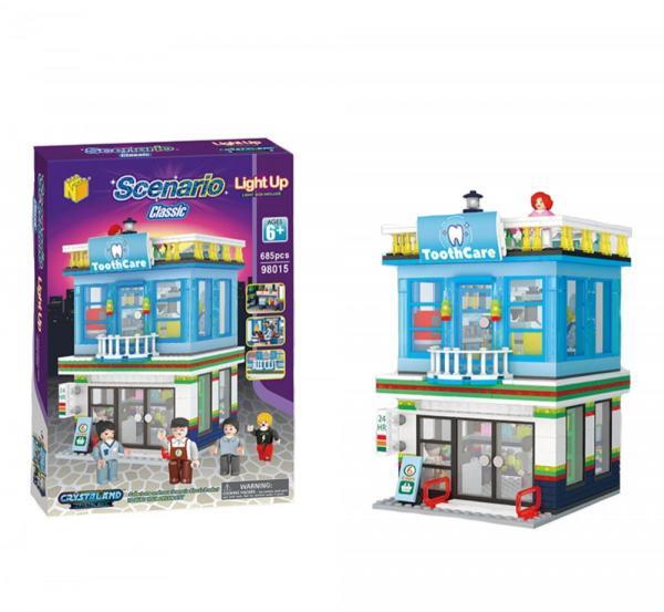 Zahnarzt und Imbiss 2in1 Senario Serie 1 mit Light Up Brick