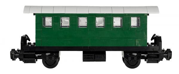Passagierwagen mit Unterstand V2, 5er Set