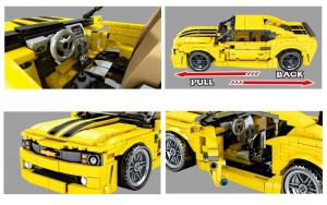 Pull Back Technic Muscle Car