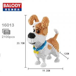 Jack Russel Terrier (diamond blocks)