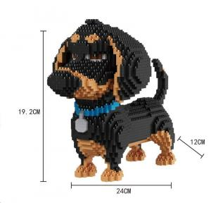 Dachshund (diamond blocks)