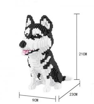Siberian Husky (diamond blocks)