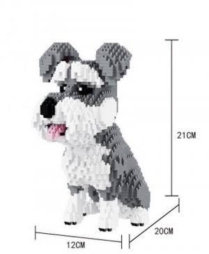Jack Russel Terrier (diamond blocks)