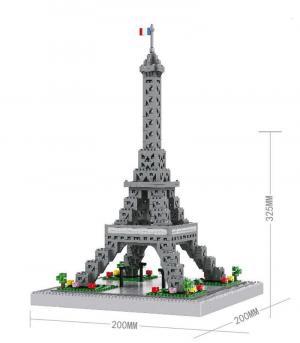 Eiffelturm (diamond blocks)