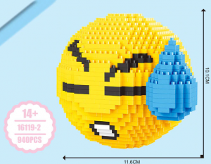 Emoji Sad (diamond blocks)