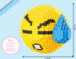 Emoji Traurig (diamond blocks)