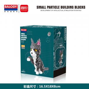 Cat grey-white (diamond blocks)