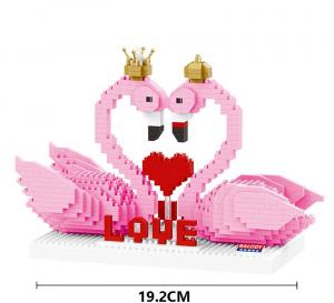 Pink Flamingo (diamond blocks)
