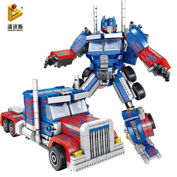 Superrobot 2 in 1 Transformation, blau rot