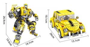 Superrobot 2 in 1, gelb