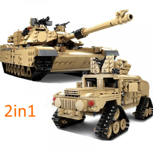 Military Battle Tank 2in1