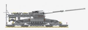 80cm Kanone Dora WWII (Ohne Figuren)