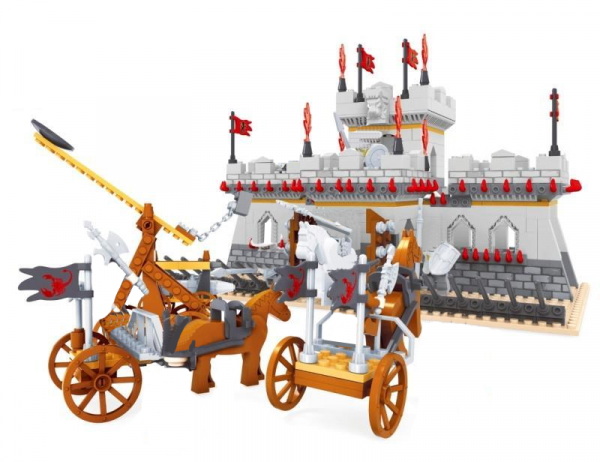 Burgbelagerung mit Streitwagen
