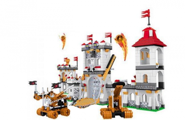 Attack on a knight's castle