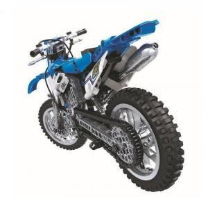 Motocross Motorrad in blau