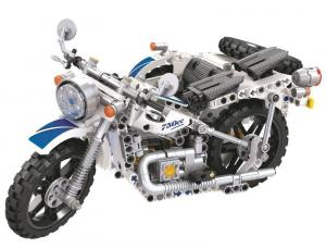 Motorbike in white/blue