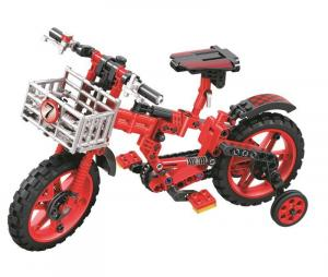 Children's bicycle with support wheels