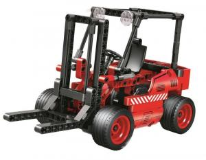 Forklift in red