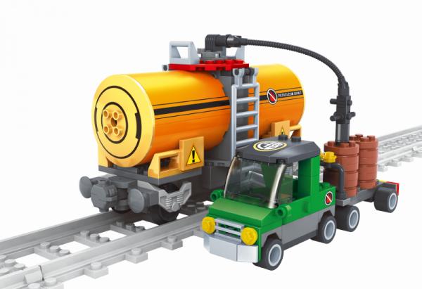 Kesselwagen und Tankfahrzeug
