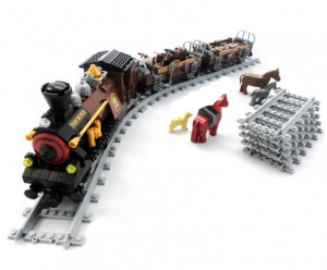 Steam Loco with Cattle Cars