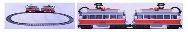 Straßenbahn mit Motor