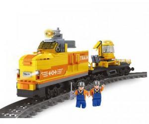 Train with excavator