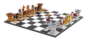 Big Chess board with figures