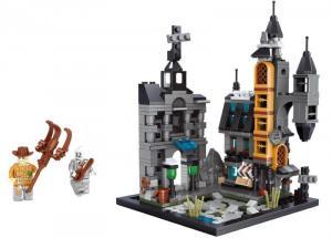 Burg mit Vogelscheuche + Zombie