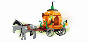 Grim reaper with pumpkin carriage