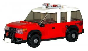 Battalion Chief's SUV red/white