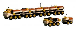 Main Base Mars - Rover construction vehicles
