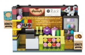 Scenario: Donut House, lighted