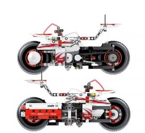 Technic Racing Motocycle in white/red