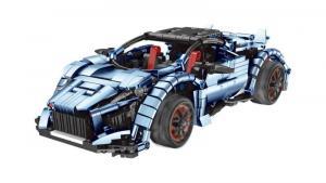 Racing Car in blue metalic/black