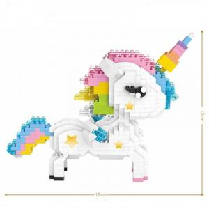 Regenbogen Einhorn (Diamond Blocks)